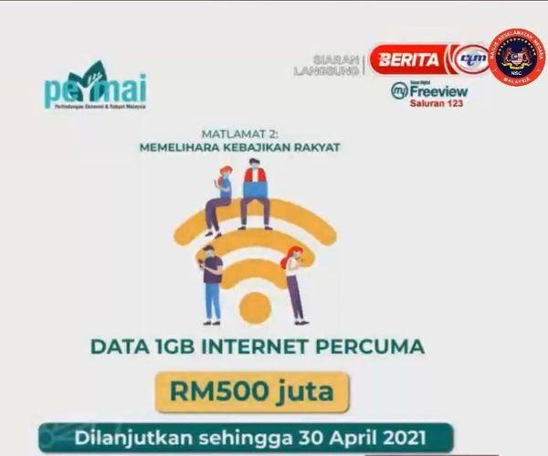 Internet 1GB Percuma Lanjut Sehingga April 2021 Turut Dinikmati Pelajar IPT