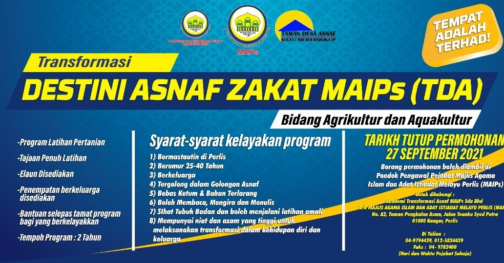 Ikuti Program Latihan Pertanian Keluarga Asnaf Zakat Dalam Bidang Agrikultur & Aquakultur, Dibuka Sehingga Umur 40 Tahun